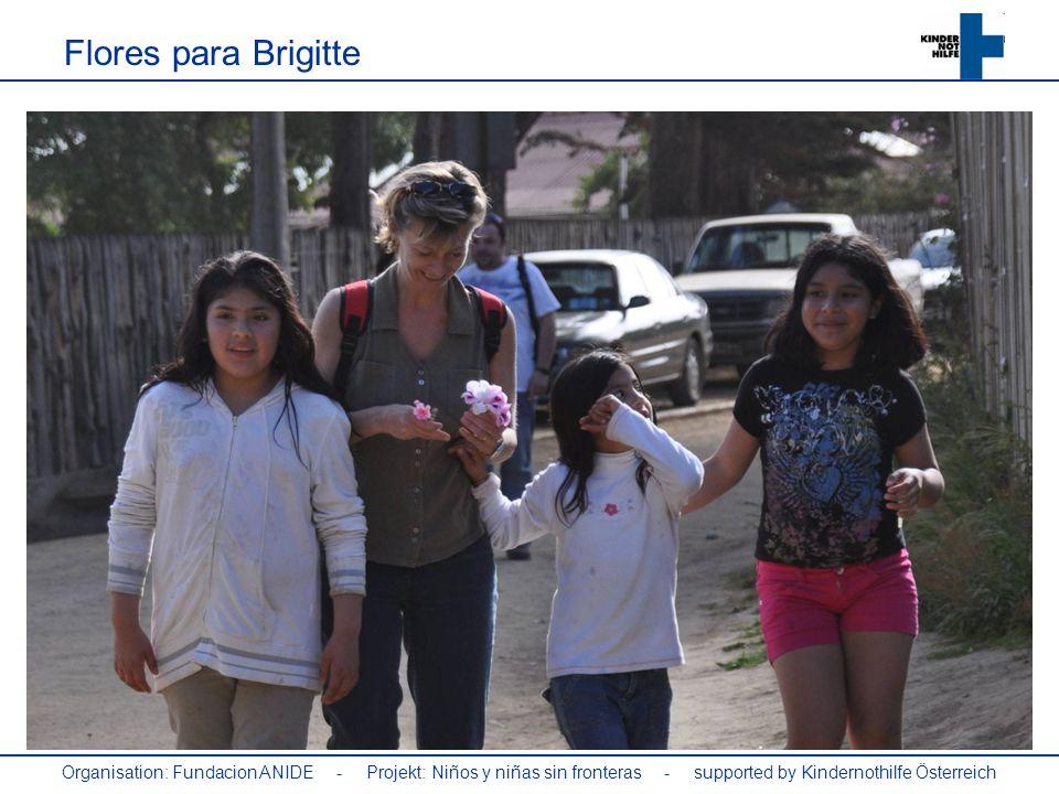 Flores para Brigitte Organisation: Fundacion ANIDE - Projekt: Niños y niñas sin fronteras - supported by Kindernothilfe Österreich.