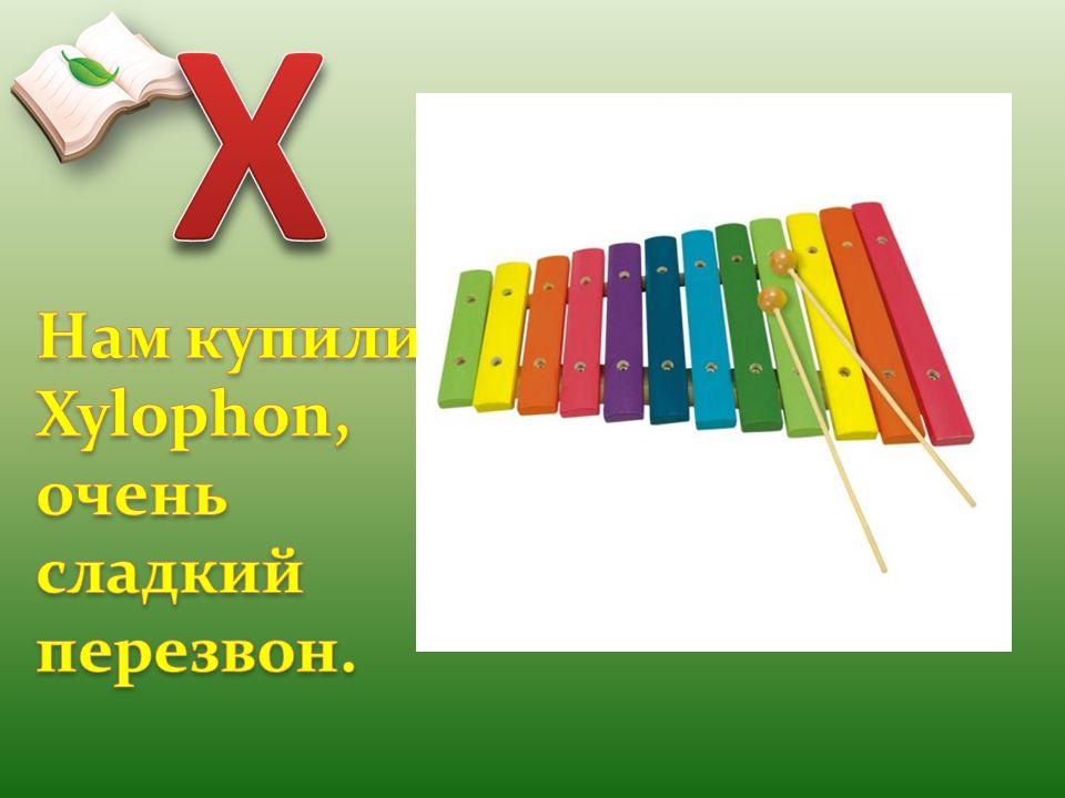 X Нам купили Xylophon, очень сладкий перезвон.