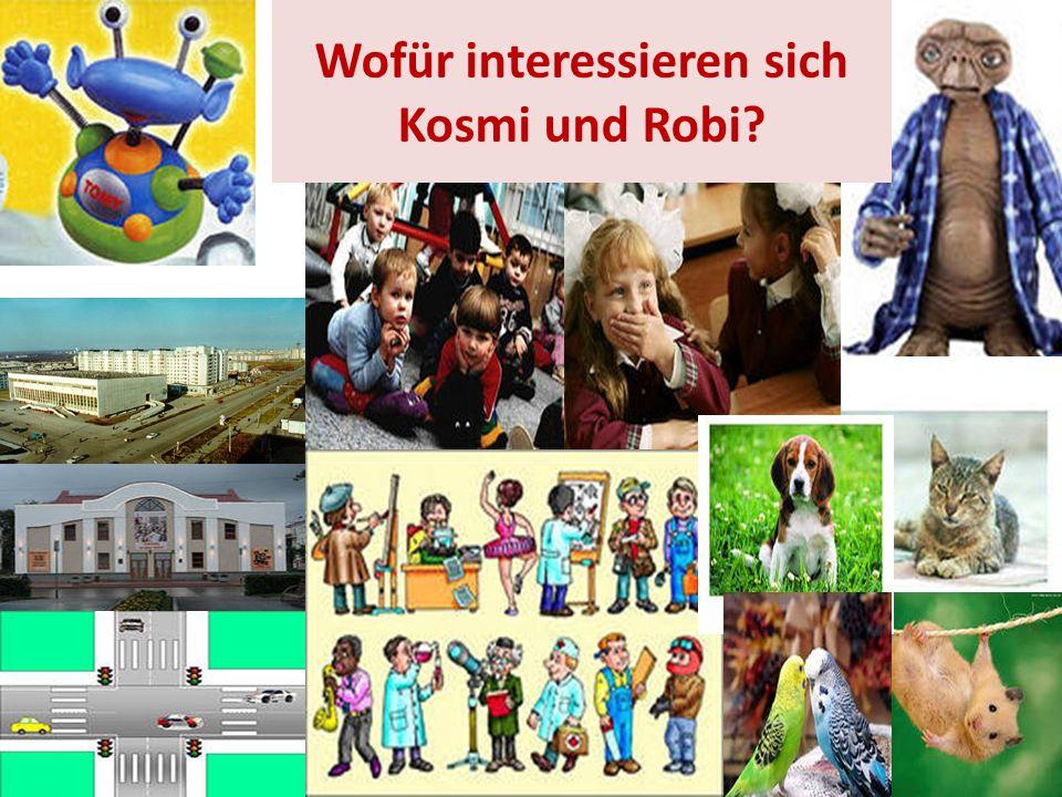 Wofür interessieren sich Kosmi und Robi