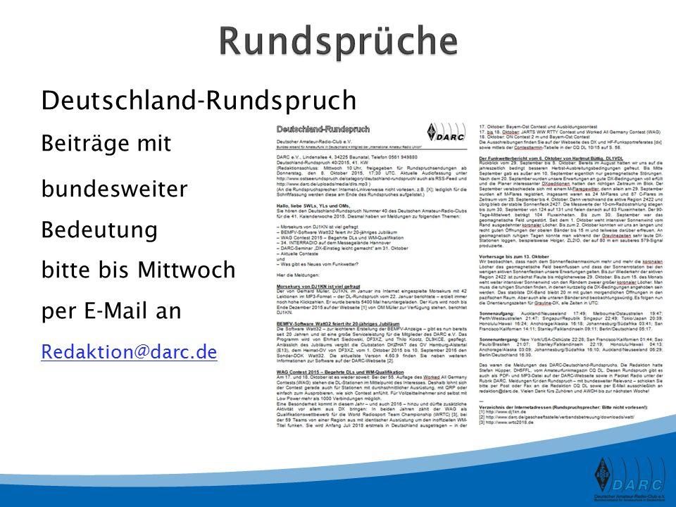 Rundsprüche Deutschland-Rundspruch Beiträge mit