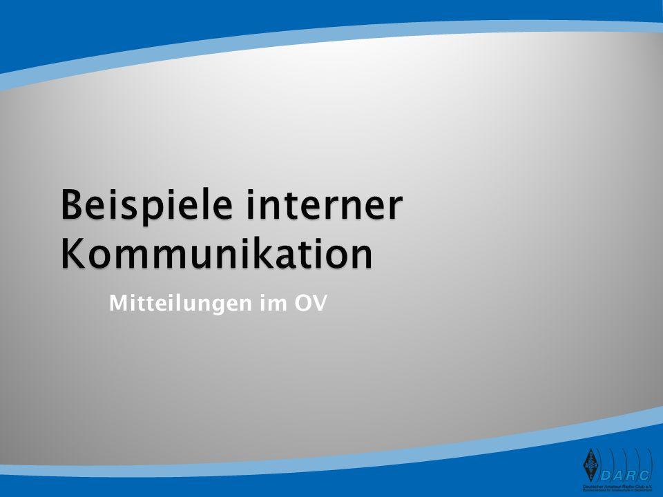 Beispiele interner Kommunikation