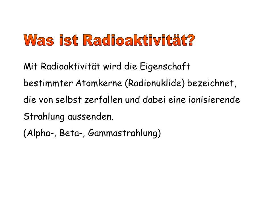 Was ist Radioaktivität
