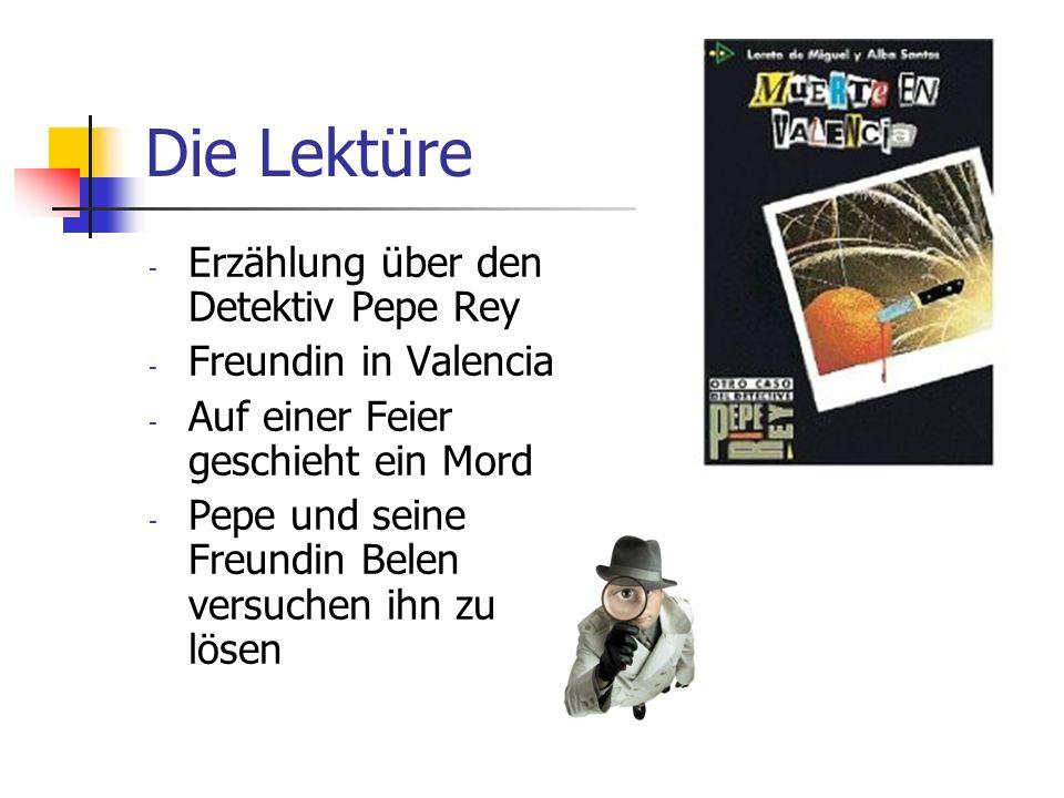 Die Lektüre Erzählung über den Detektiv Pepe Rey Freundin in Valencia