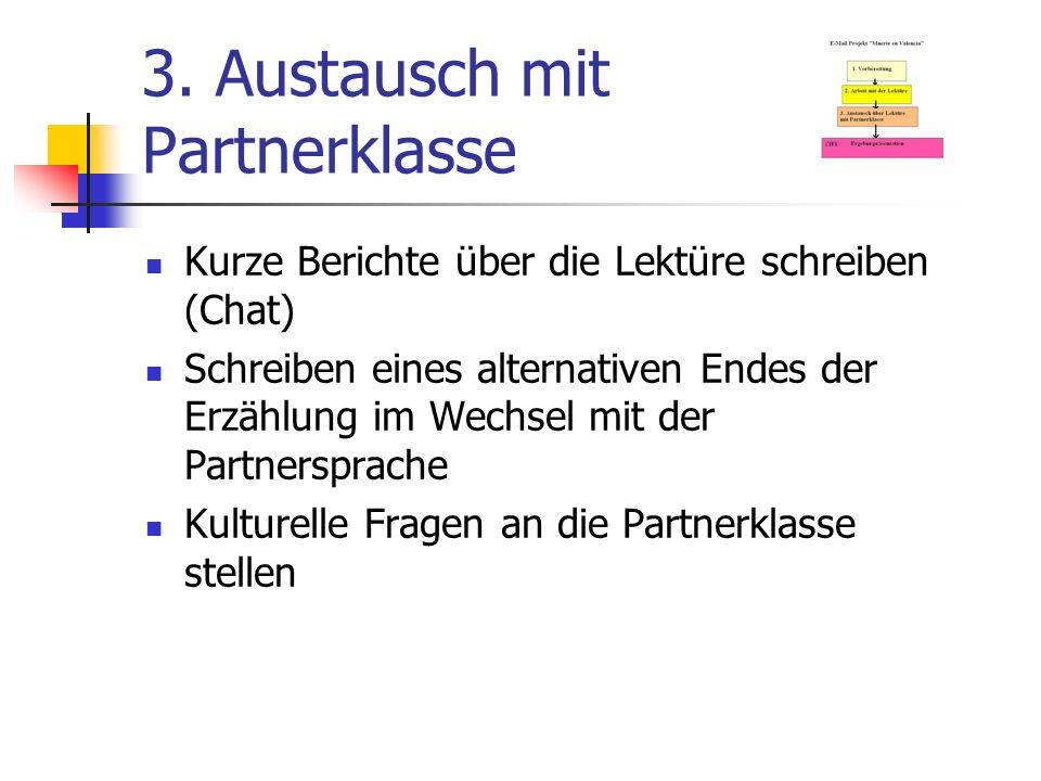 3. Austausch mit Partnerklasse