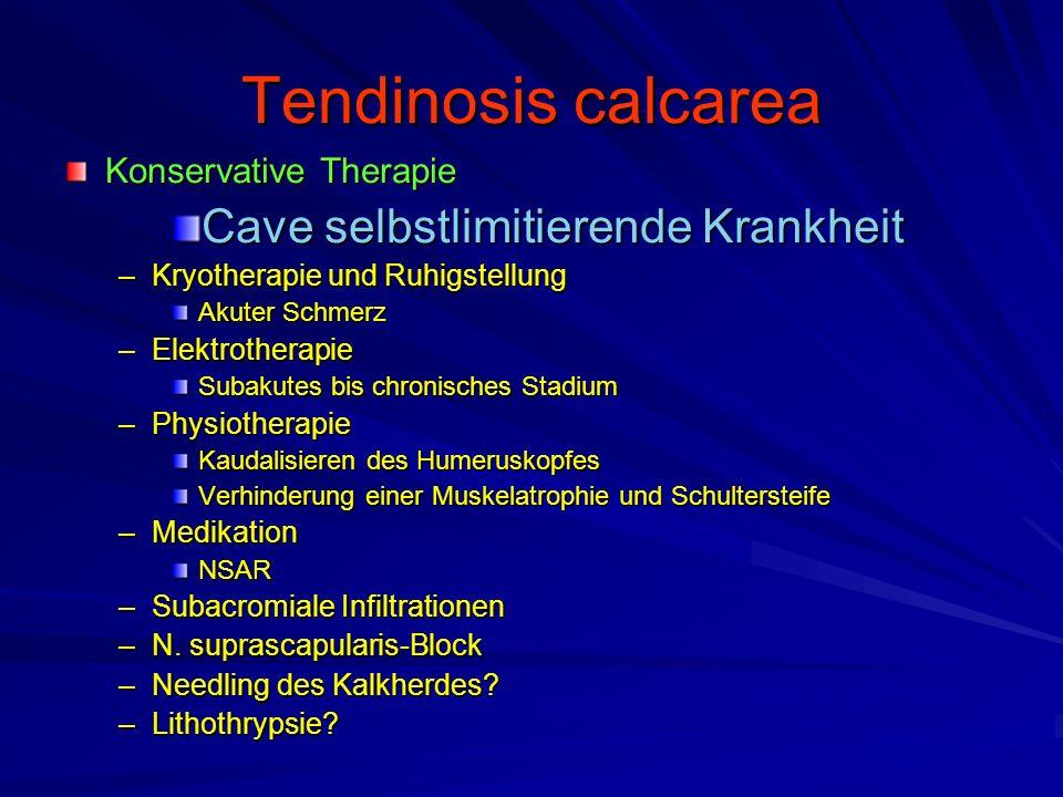 Tendinosis calcarea Cave selbstlimitierende Krankheit