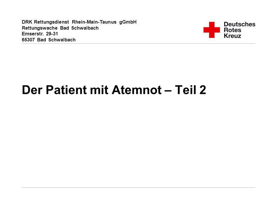 Der Patient mit Atemnot – Teil 2