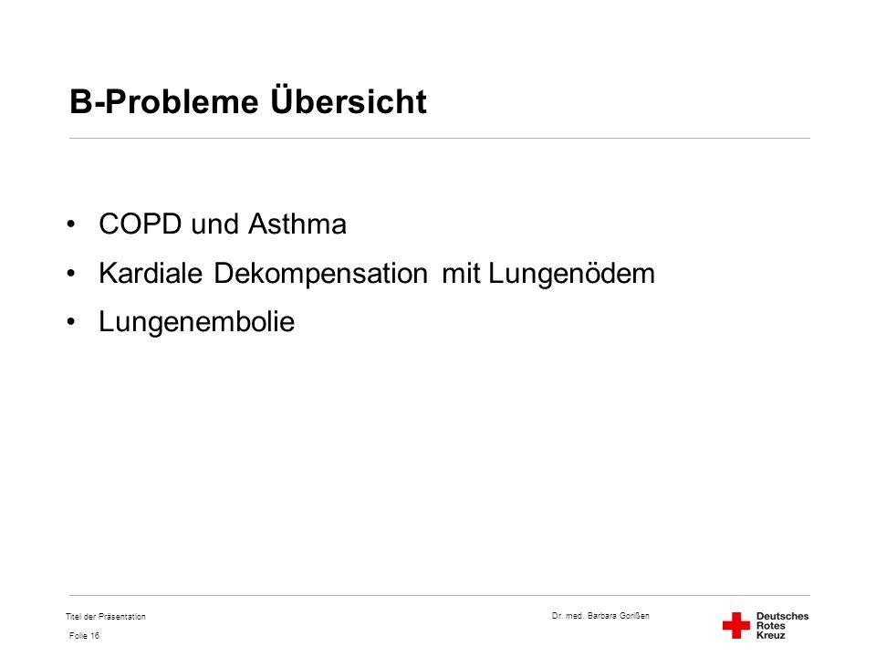 B-Probleme Übersicht COPD und Asthma