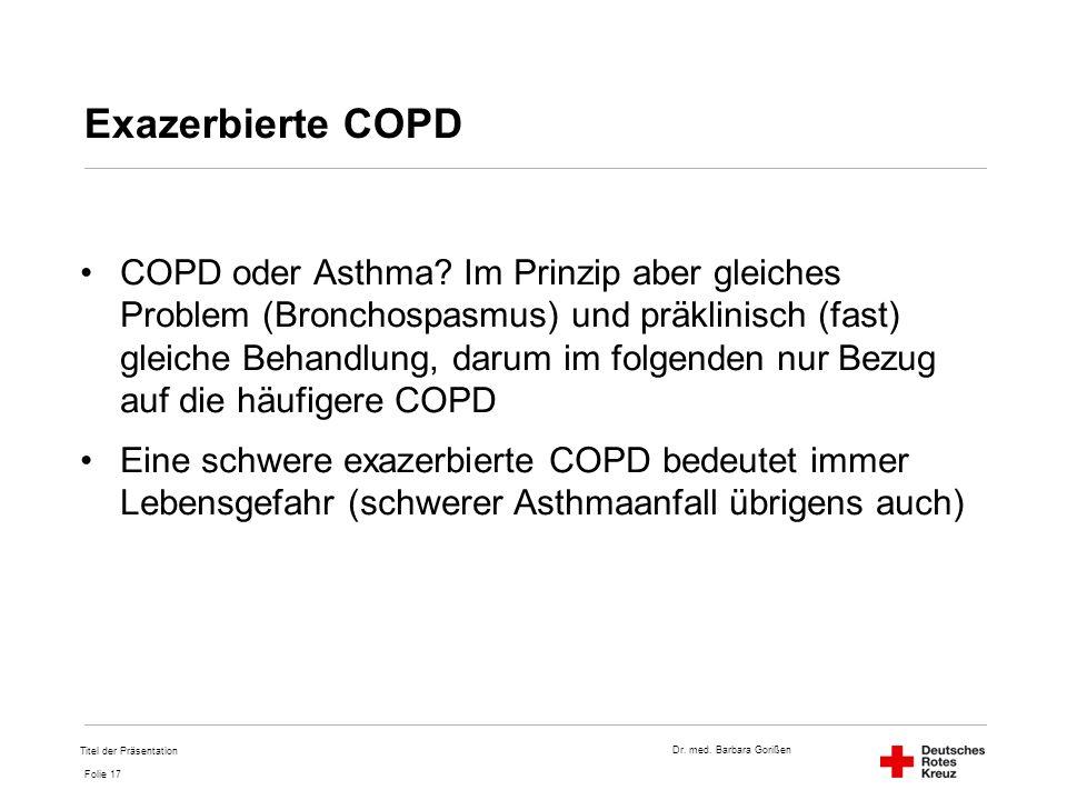 Exazerbierte COPD