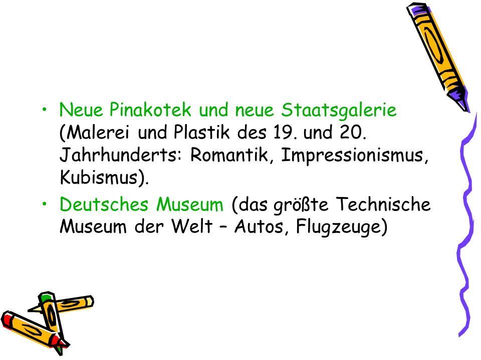 Neue Pinakotek und neue Staatsgalerie (Malerei und Plastik des 19