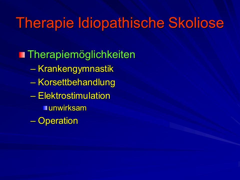 Therapie Idiopathische Skoliose
