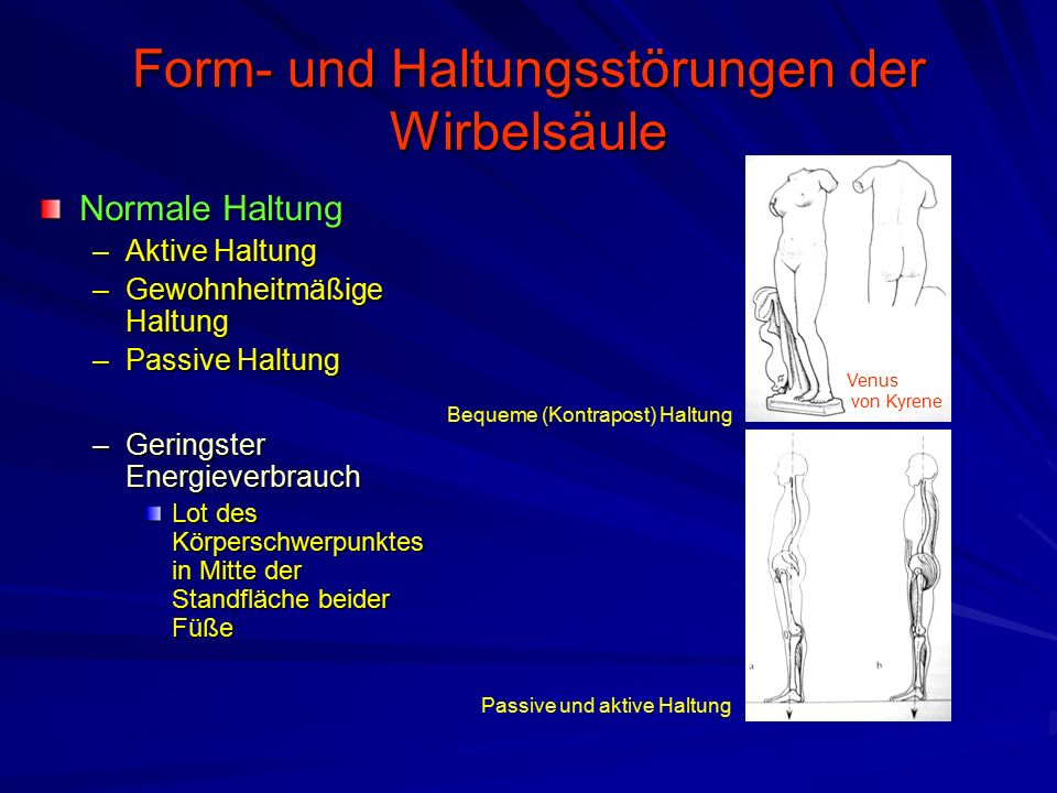 Form- und Haltungsstörungen der Wirbelsäule