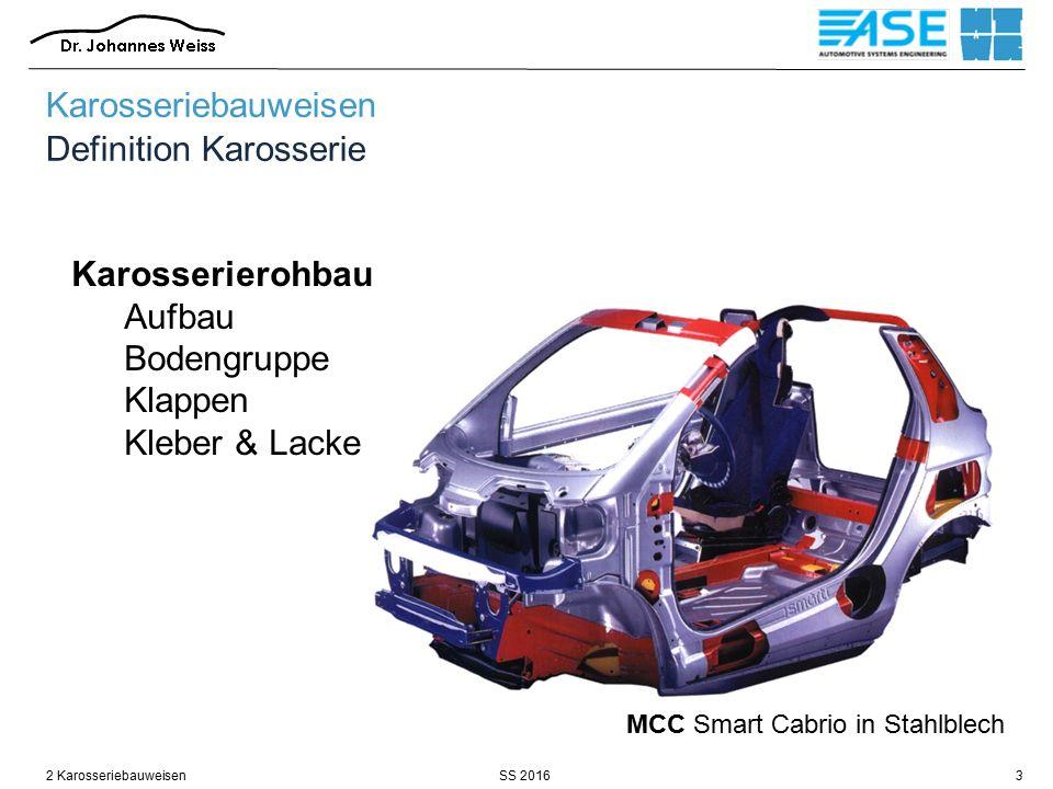 Karosseriebauweisen Definition Karosserie