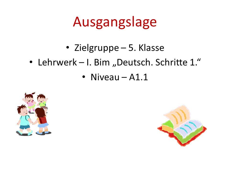 """Lehrwerk – I. Bim """"Deutsch. Schritte 1."""