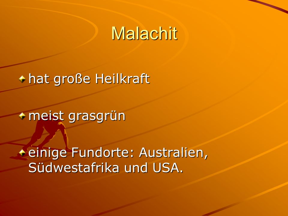 Malachit hat große Heilkraft meist grasgrün