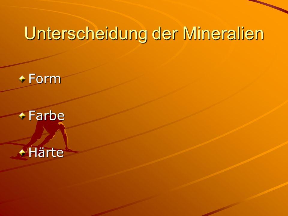Unterscheidung der Mineralien