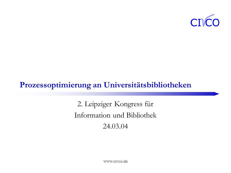 Prozessoptimierung an Universitätsbibliotheken