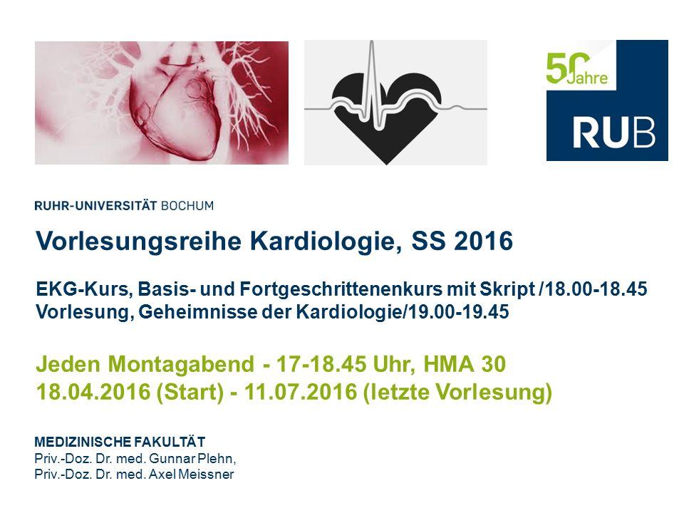 Vorlesungsreihe Kardiologie, SS 2016