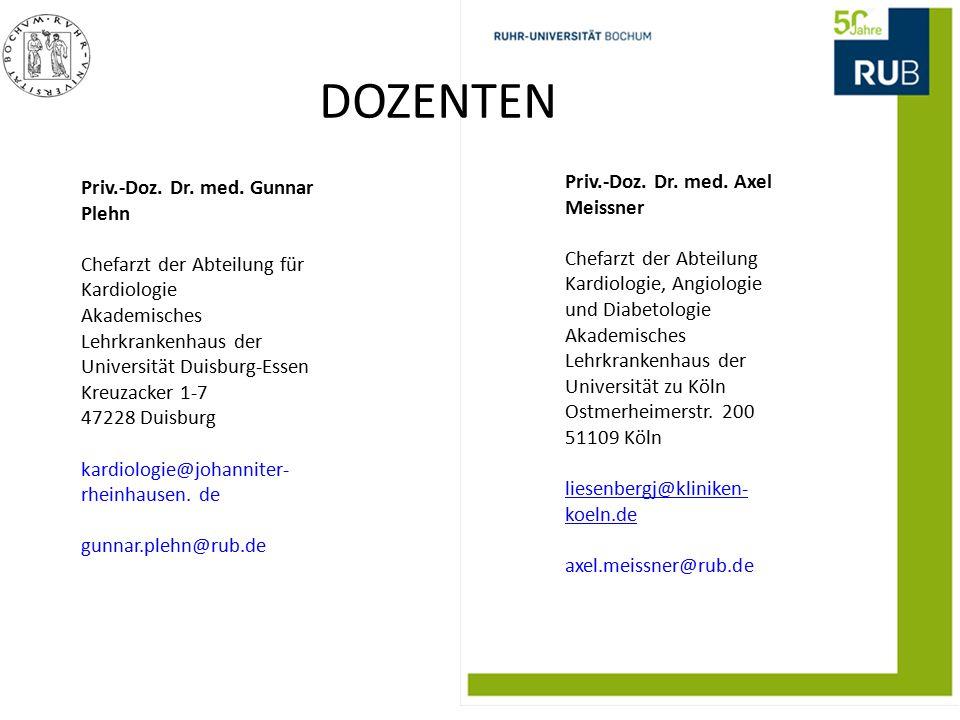DOZENTEN Priv.-Doz. Dr. med. Axel Meissner
