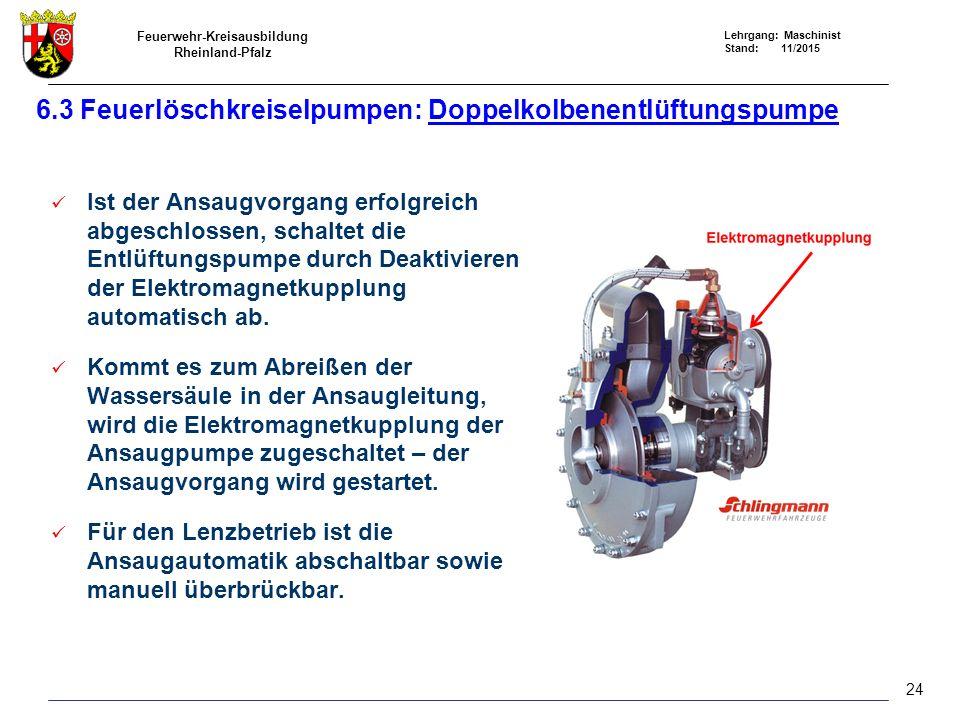 6.3 Feuerlöschkreiselpumpen: Doppelkolbenentlüftungspumpe