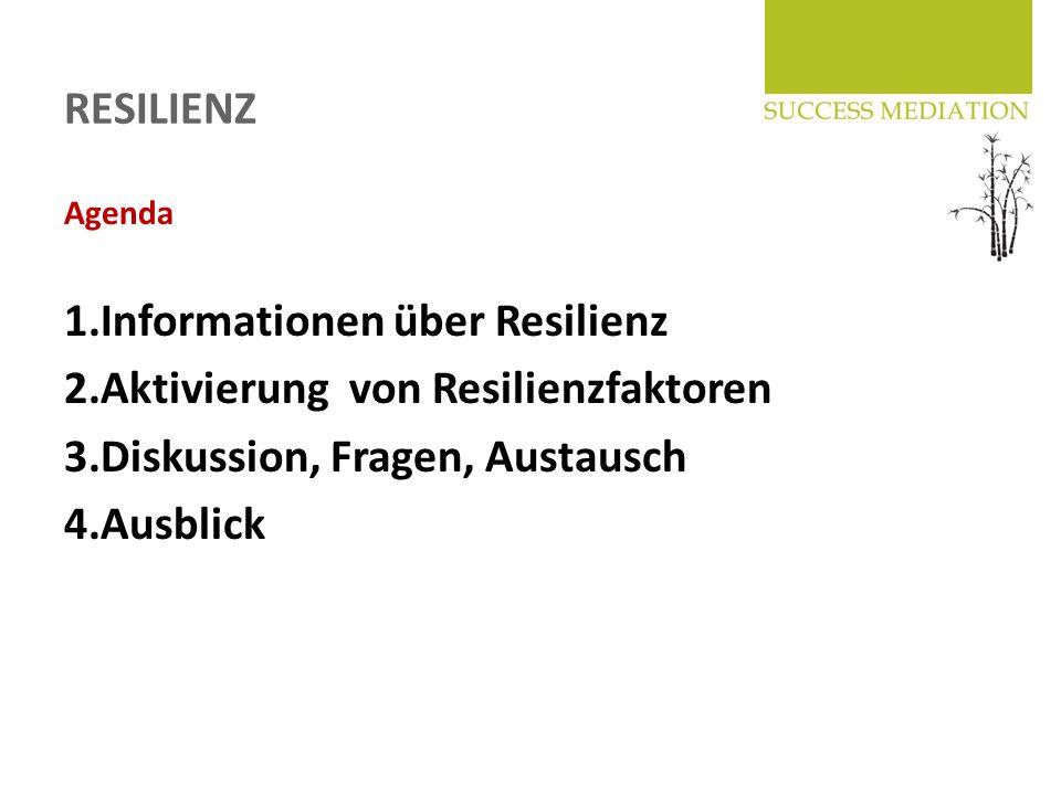 1.Informationen über Resilienz 2.Aktivierung von Resilienzfaktoren