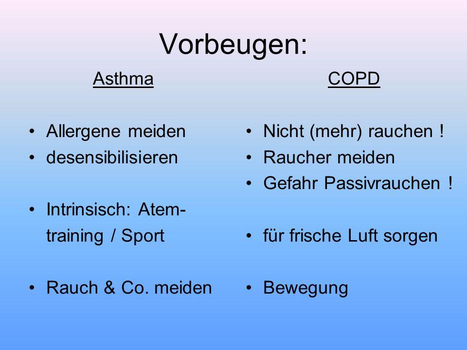 Vorbeugen: Asthma Allergene meiden desensibilisieren