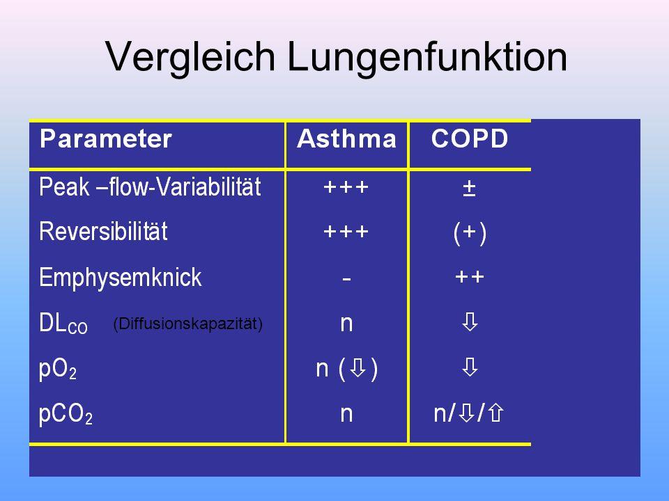 Vergleich Lungenfunktion