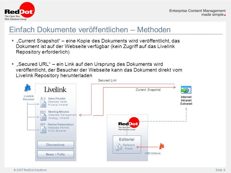 Einfach Dokumente veröffentlichen – Methoden