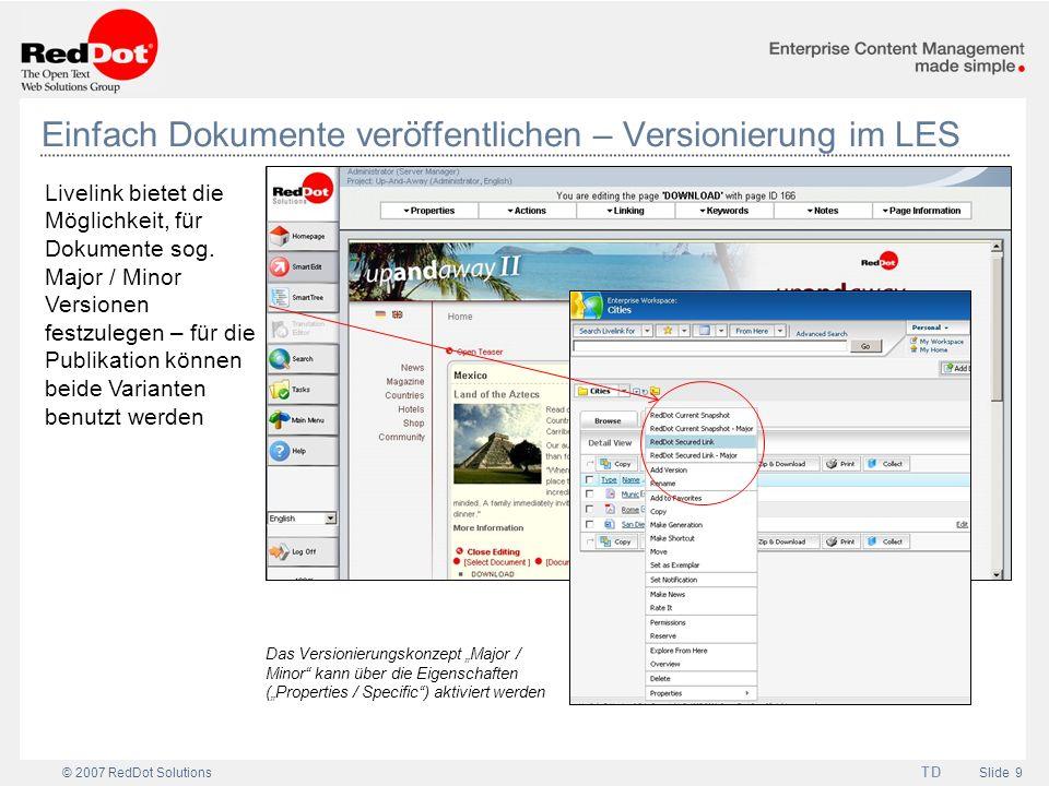 Einfach Dokumente veröffentlichen – Versionierung im LES