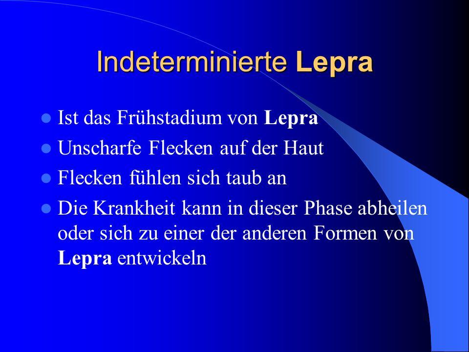 Indeterminierte Lepra