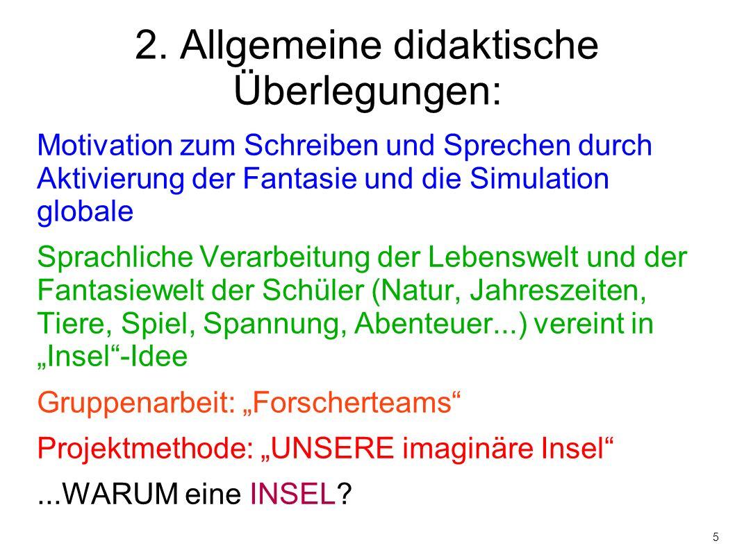 2. Allgemeine didaktische Überlegungen: