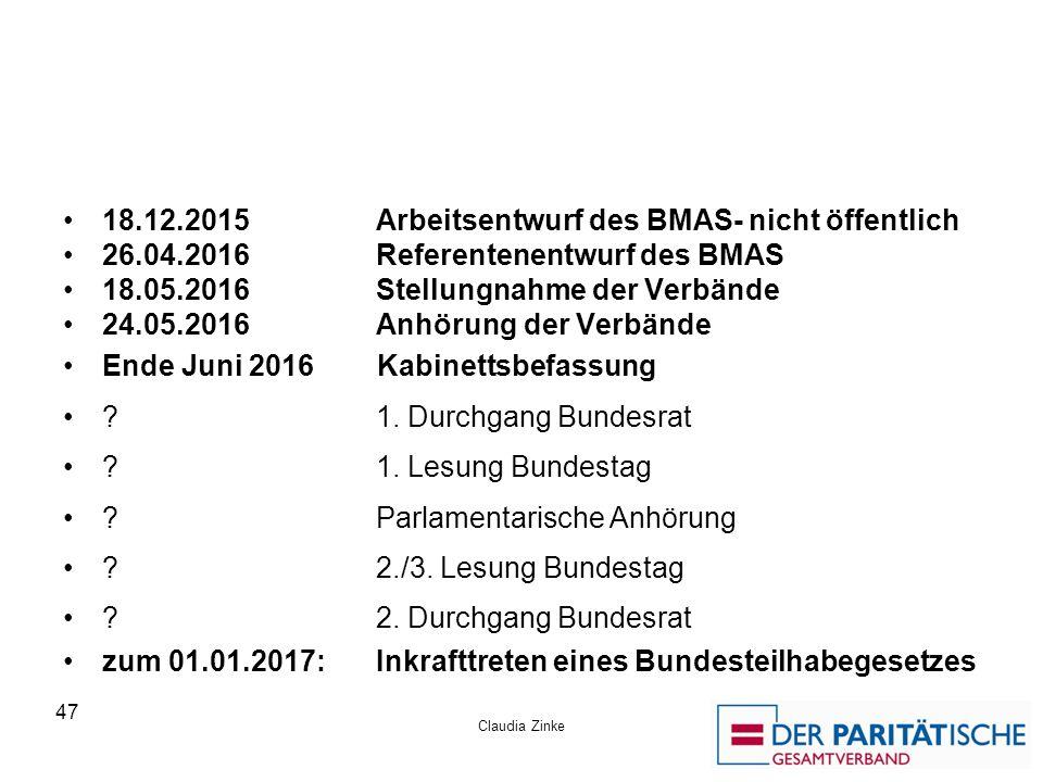 18.12.2015 Arbeitsentwurf des BMAS- nicht öffentlich