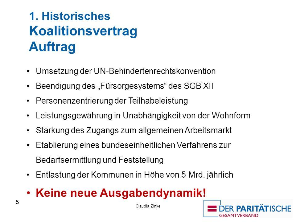 1. Historisches Koalitionsvertrag Auftrag