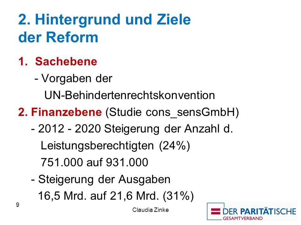 2. Hintergrund und Ziele der Reform
