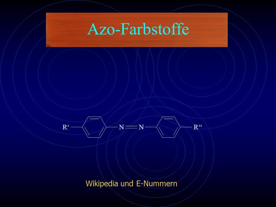 Azo-Farbstoffe Wikipedia und E-Nummern N R'' R'