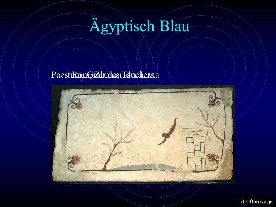 Ägyptisch Blau Paestum, Grab des Tauchers Rom, Zimmer der Livia