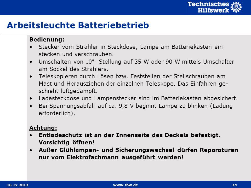 Arbeitsleuchte Batteriebetrieb