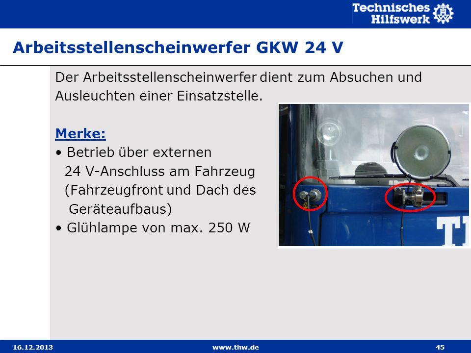 Arbeitsstellenscheinwerfer GKW 24 V