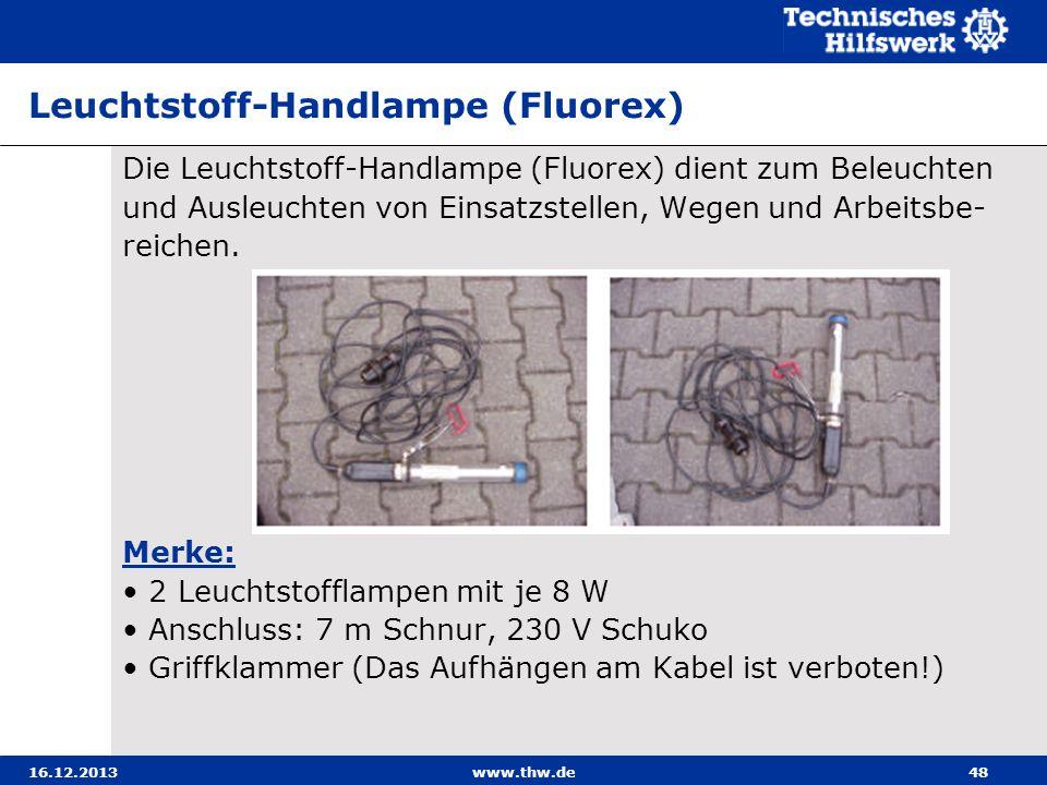 Leuchtstoff-Handlampe (Fluorex)