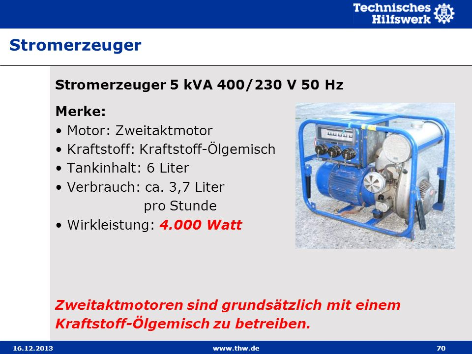 Stromerzeuger Stromerzeuger 5 kVA 400/230 V 50 Hz Merke: