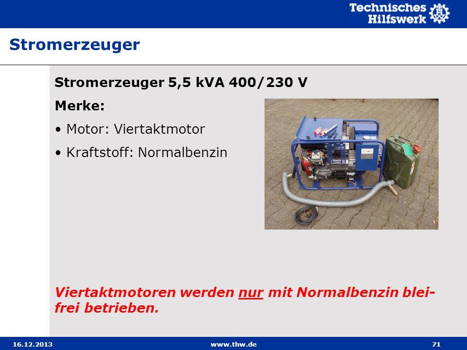 Stromerzeuger Stromerzeuger 5,5 kVA 400/230 V Merke: