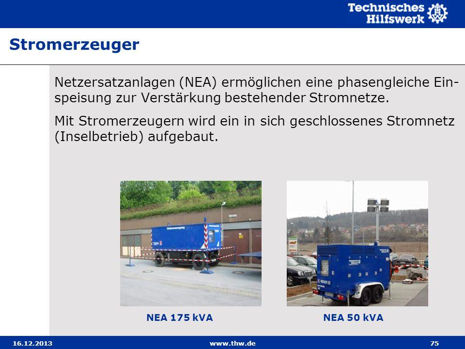 StromerzeugerNetzersatzanlagen (NEA) ermöglichen eine phasengleiche Ein-speisung zur Verstärkung bestehender Stromnetze.