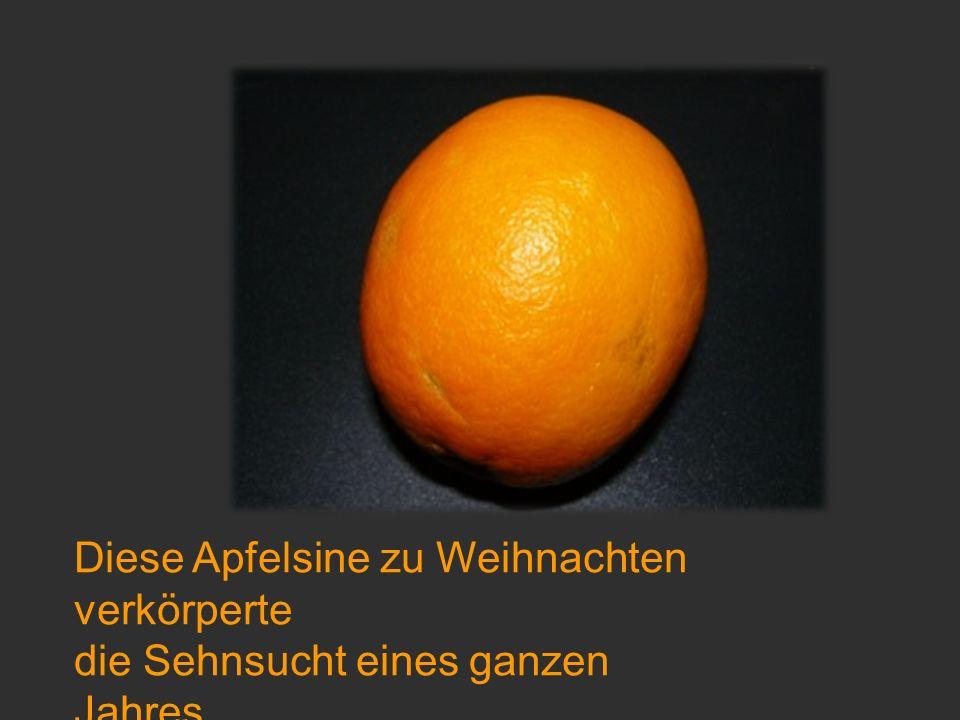 Diese Apfelsine zu Weihnachten verkörperte
