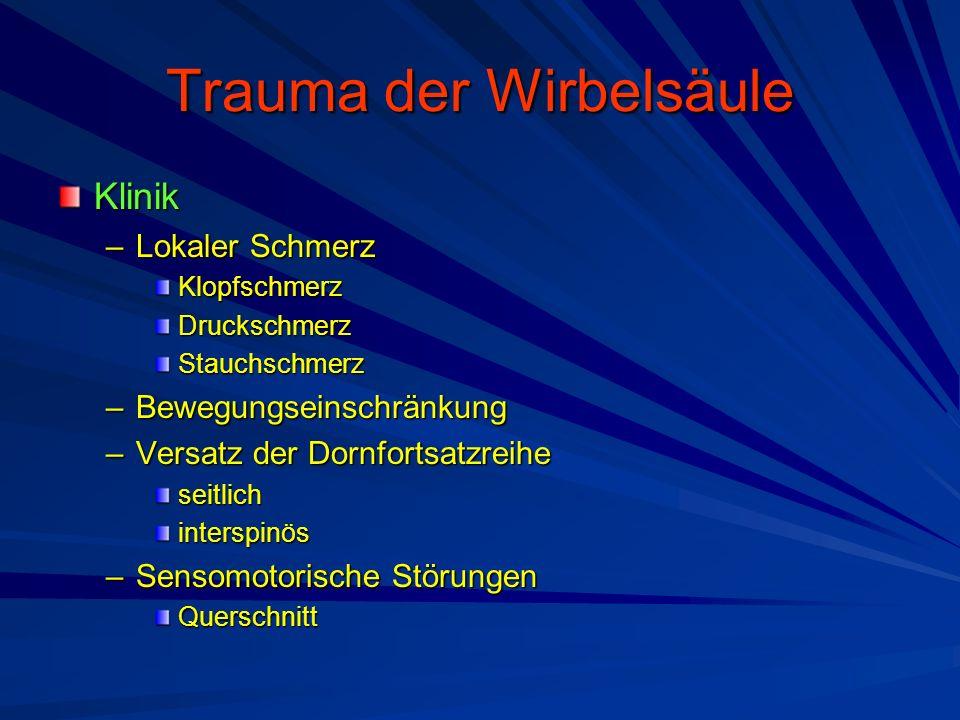 Trauma der Wirbelsäule
