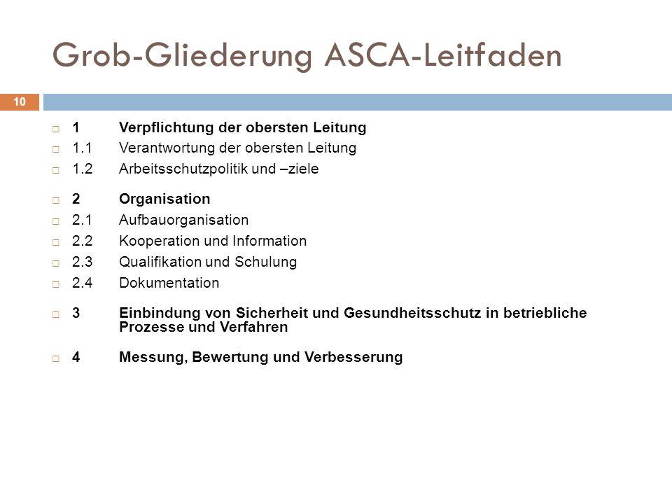 Grob-Gliederung ASCA-Leitfaden