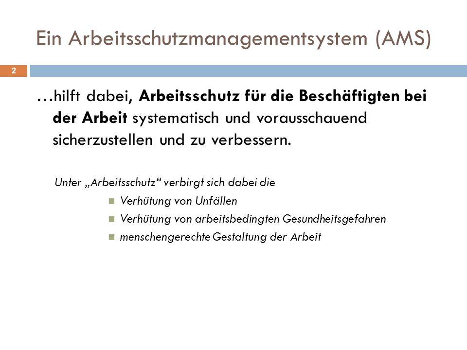 Ein Arbeitsschutzmanagementsystem (AMS)