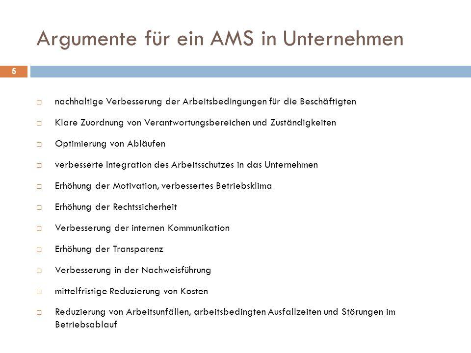 Argumente für ein AMS in Unternehmen