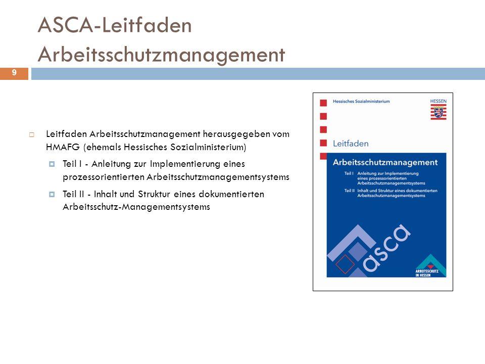 ASCA-Leitfaden Arbeitsschutzmanagement