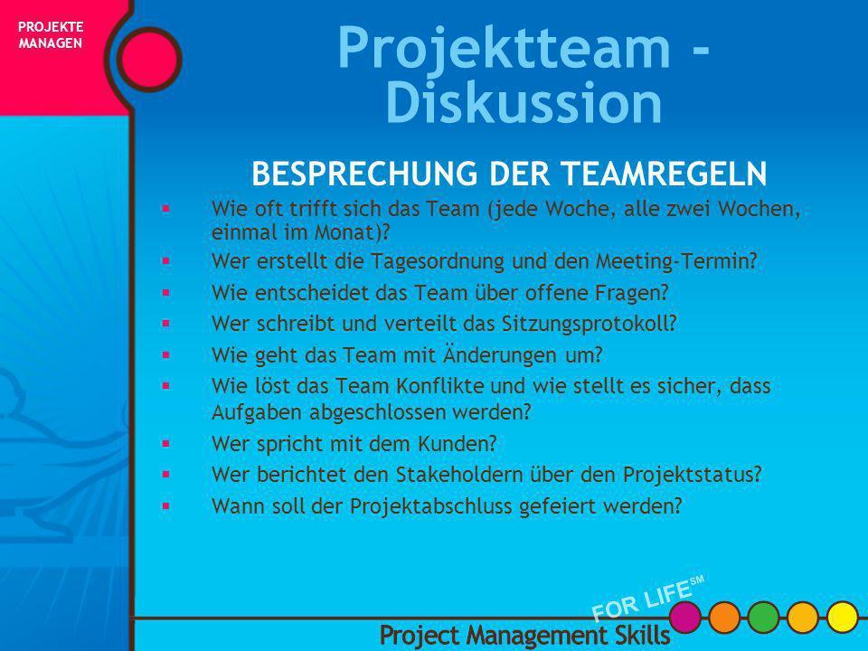 Projektteam -Diskussion