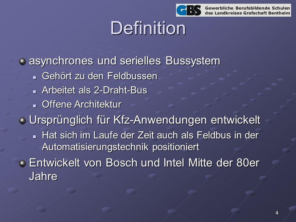 Definition asynchrones und serielles Bussystem