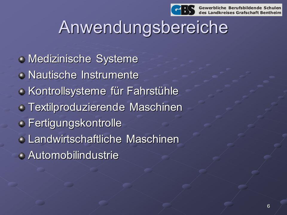 Anwendungsbereiche Medizinische Systeme Nautische Instrumente